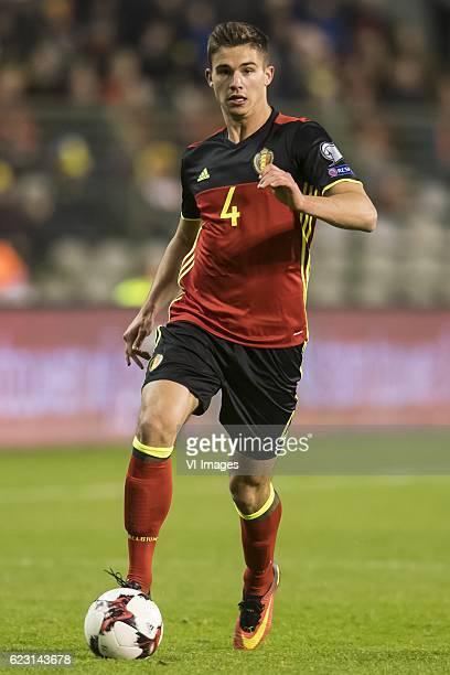 Leander Dendoncker of Belgiumduring the FIFA World Cup 2018 qualifying match between Belgium and Estonia on November 13 2016 at the Koning Boudewijn...