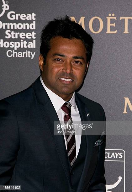 Leander Paes attend the ATP World Tour Finals gala dinner at the Natural History Museum at O2 Arena on November 2 2013 in London England