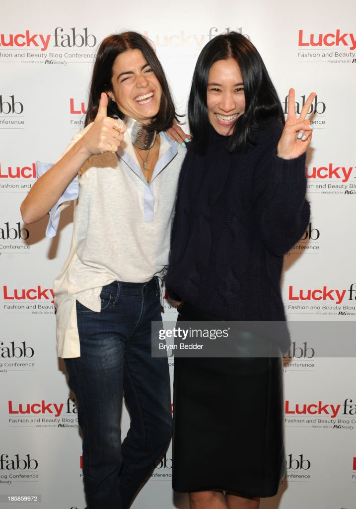 <a gi-track='captionPersonalityLinkClicked' href=/galleries/search?phrase=Leandra+Medine&family=editorial&specificpeople=7491795 ng-click='$event.stopPropagation()'>Leandra Medine</a> and Editor in Chief of Lucky, Eva Chen attend Lucky Magazine's Two-Day East Coast
