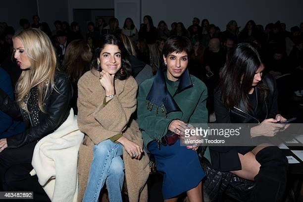 Leandra Medine and Princess Deena Aljuhani Abdulaziz attends the Altuzarra fashion show during MercedesBenz Fashion Week Fall 2015 at Spring Studios...