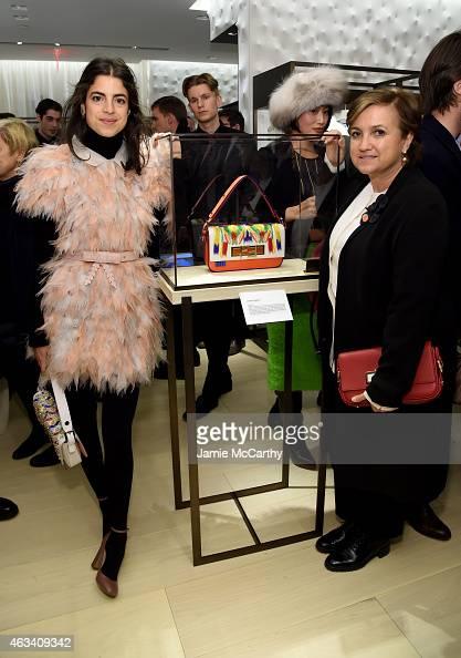 Leandra Medine and Silvia Venturini Fendi attend FENDI celebrates the opening of the New York flagship store on February 13 2015 in New York City