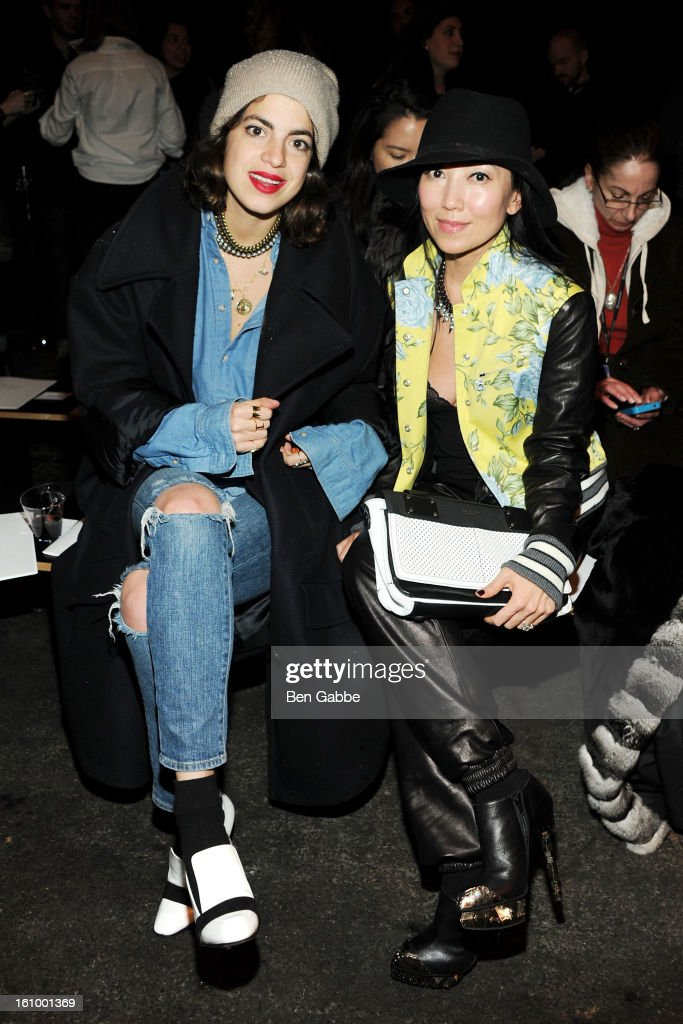 <a gi-track='captionPersonalityLinkClicked' href=/galleries/search?phrase=Leandra+Medine&family=editorial&specificpeople=7491795 ng-click='$event.stopPropagation()'>Leandra Medine</a> and Tina Craig attend the Rag & Bone Women's fall 2013 fashion show during Mercedes-Benz Fashion Week at Skylight Studios at Moynihan Station on February 8, 2013 in New York City.