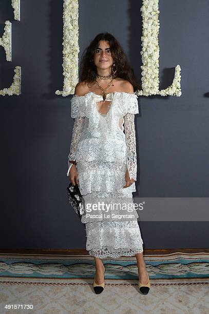 Leandra Medine attends a cocktail party hosted by the US Ambassador to France and Monaco to celebrate ELLE US's 30th Anniversary ELLE France's 70th...