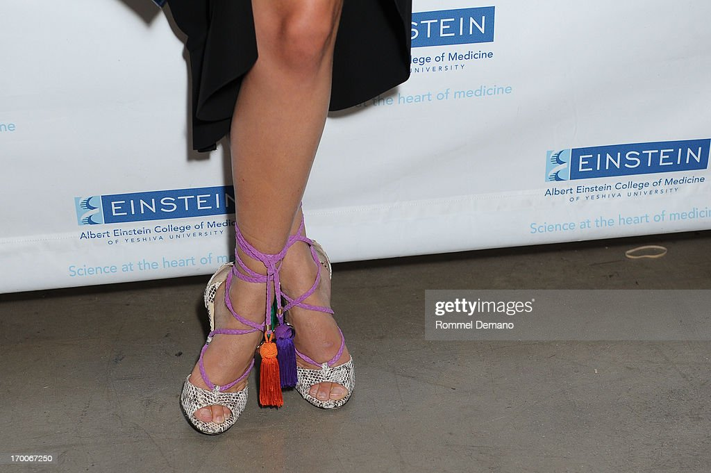 <a gi-track='captionPersonalityLinkClicked' href=/galleries/search?phrase=Leandra+Medine&family=editorial&specificpeople=7491795 ng-click='$event.stopPropagation()'>Leandra Medine</a> (shoe detail) attends the Einstein Emerging Leaders 2nd Annual Gala at Dream Downtown on June 6, 2013 in New York City.