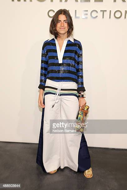 Leandra Medine attends the Michael Kors Spring 2016 Runway Show during New York Fashion Week The Shows at Spring Studios on September 16 2015 in New...