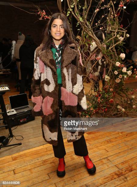 Leandra Medine attends Ulla Johnson Front Row during New York Fashion Week on February 9 2017 in New York City