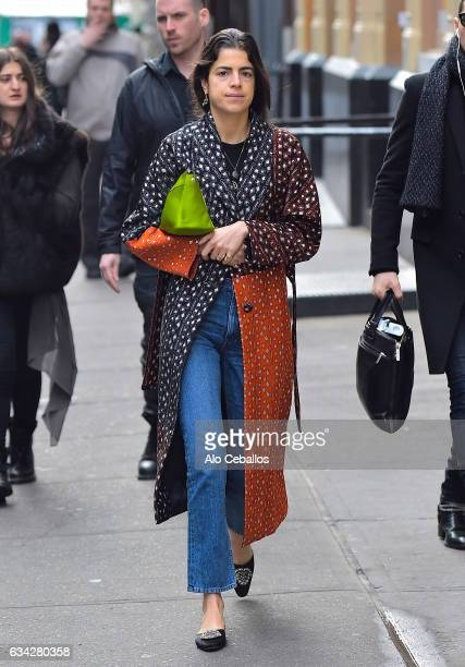 Leandra Medine is seen in Soho on February 8 2017 in New York City