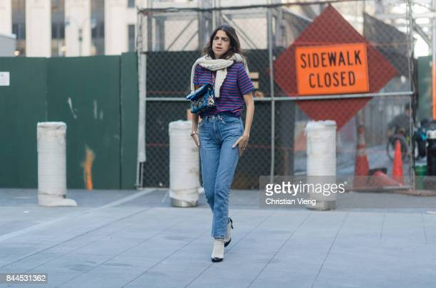 Leandra Medine seen in the streets of Manhattan outside Monse during New York Fashion Week on September 8 2017 in New York City