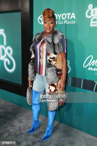 Le'Andria Johnson attends the 2017 Soul Train Awards presented by BET at the Orleans Arena on November 5 2017 in Las Vegas Nevada