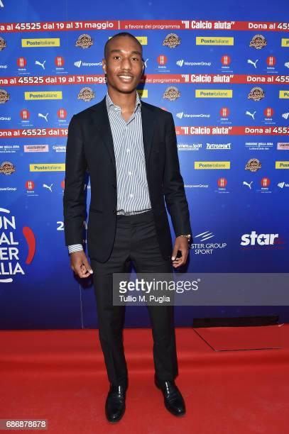 Leandrinho attends 'Un Goal per l'Italia' Event on May 22 2017 in Norcia Italy