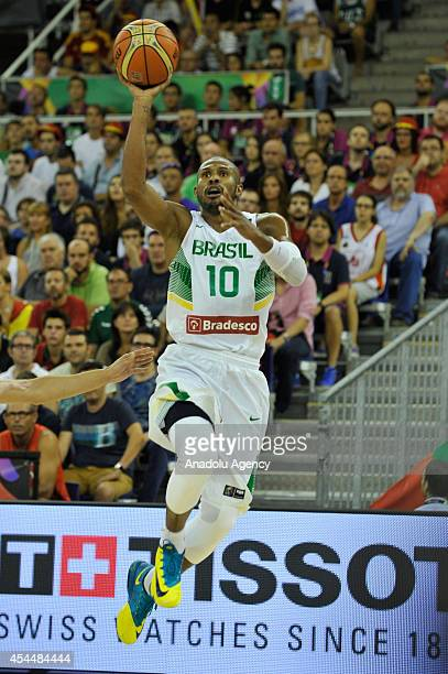 Leandro Barbosa of Brazil in action during the 2014 FIBA Basketball World Cup Group A match between Brazil and Spain at the Palacio Municipal de...
