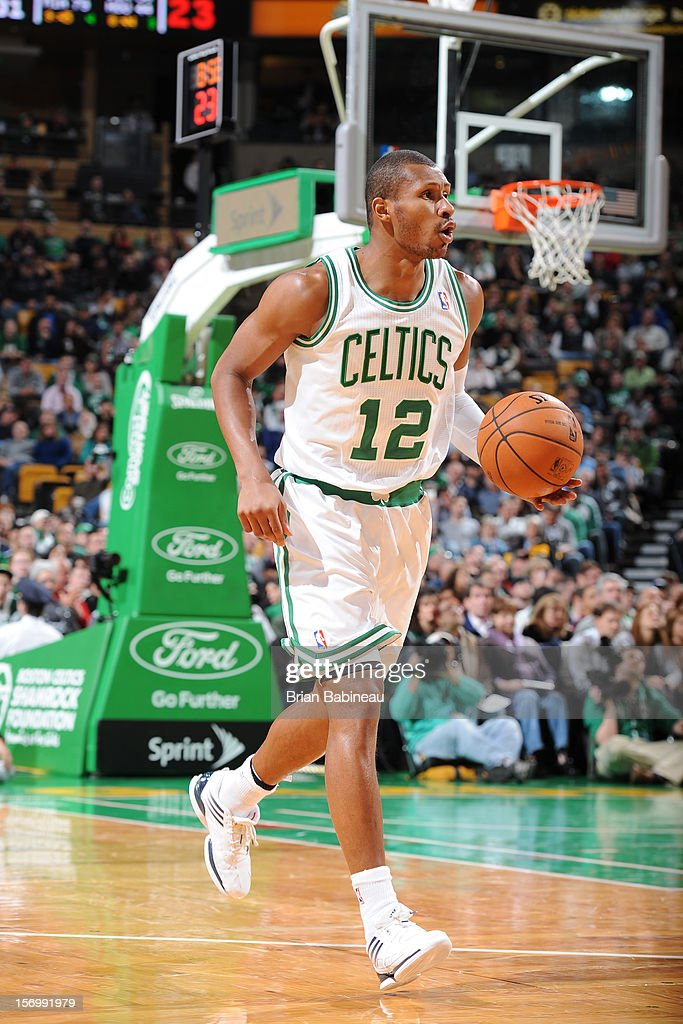 Leandro Barbosa #12 of the Boston Celtics handles the ball during the game against the Washington Wizards on November 7, 2012 at the TD Garden in Boston, Massachusetts.
