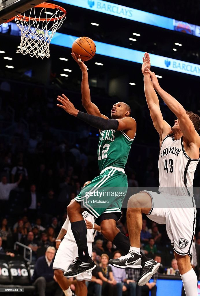 Leandro Barbosa #12 of the Boston Celtics in action against the Brooklyn Nets at Barclays Center on November 15, 2012 in the Brooklyn borough of New York City.The Nets defeated the Celtics 102-97.