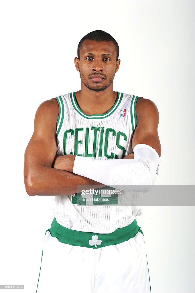 Leandro Barbosa #12 of the Boston Celtics poses for a picture before the game against the Washington Wizards on November 7, 2012 at the TD Garden in Boston, Massachusetts.