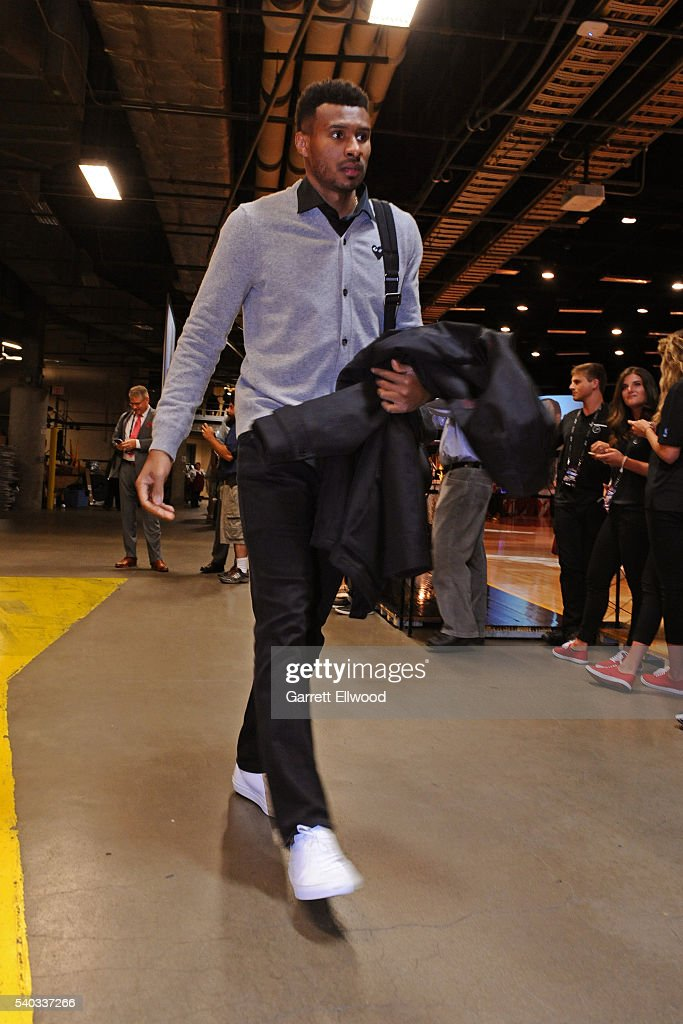 Leandro Barbosa #19 of the Golden State Warriors arrives before Game Four of the 2016 NBA Finals against the Cleveland Cavaliers at The Quicken Loans Arena on June 10, 2016 in Cleveland, Ohio.
