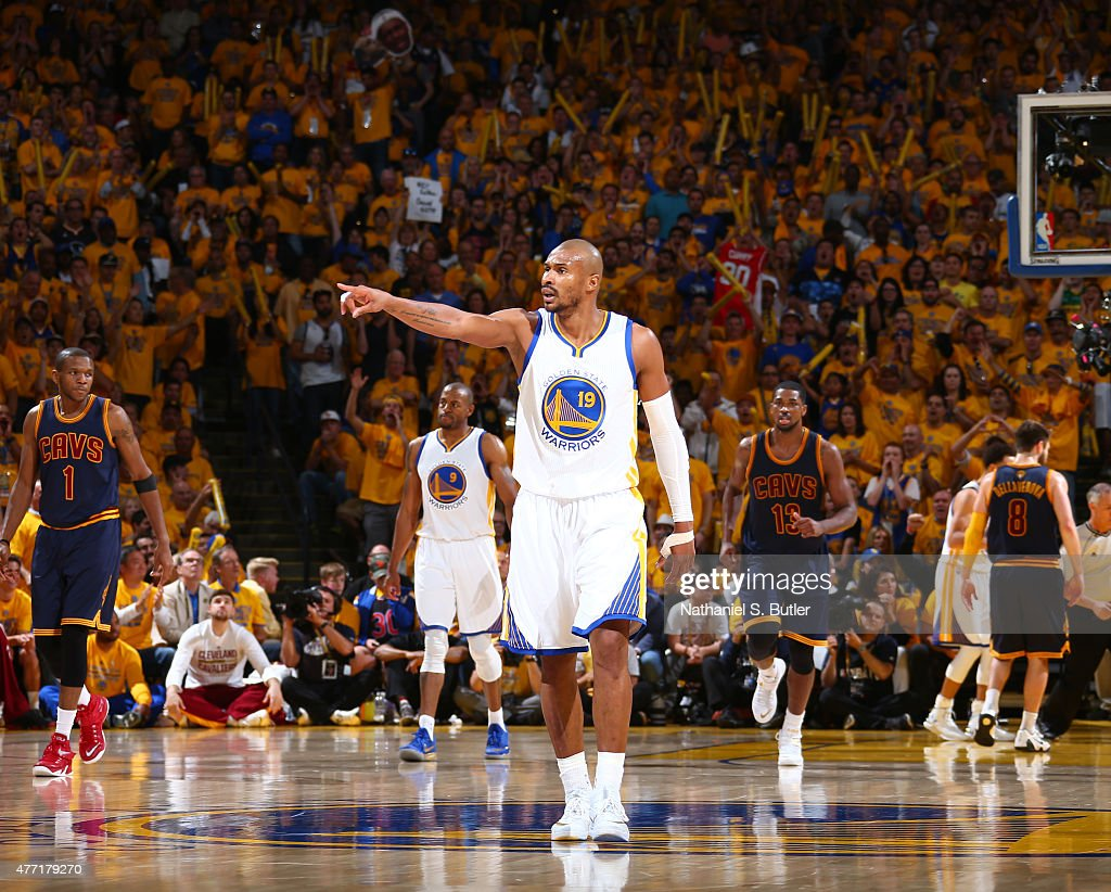 <a gi-track='captionPersonalityLinkClicked' href=/galleries/search?phrase=Leandro+Barbosa&family=editorial&specificpeople=201506 ng-click='$event.stopPropagation()'>Leandro Barbosa</a> #19 of the Golden State Warriors calls out to his teammates during Game Five of the 2015 NBA Finals on June 14, 2015 at Oracle Arena in Oakland, California.