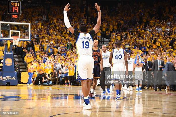 Leandro Barbosa of the Golden State Warriors celebrates during the game against the Cleveland Cavaliers in Game One of the 2016 NBA Finals on June 2...