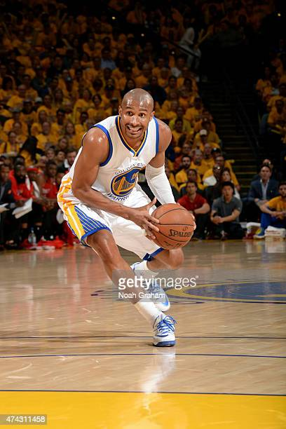 Leandro Barbosa of the Golden State Warriors drives against the Houston Rockets in Game Two of the Western Conference Finals of the 2015 NBA Playoffs...