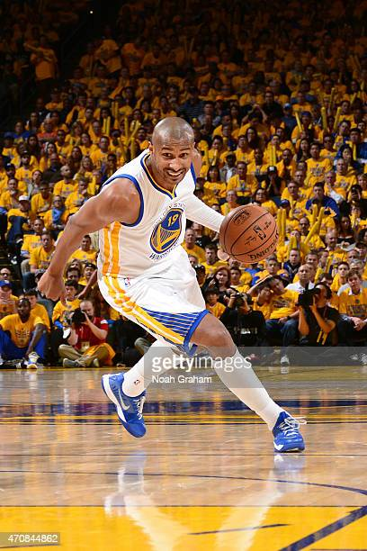 Leandro Barbosa of the Golden State Warriors drives to the basket during Game Two of the Western Conference Quarterfinals against the New Orleans...