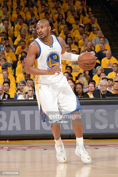 Leandro Barbosa of the Golden State Warriors handles the ball against the Cleveland Cavaliers in Game Two of the 2015 NBA Finals on June 4 2015 at...