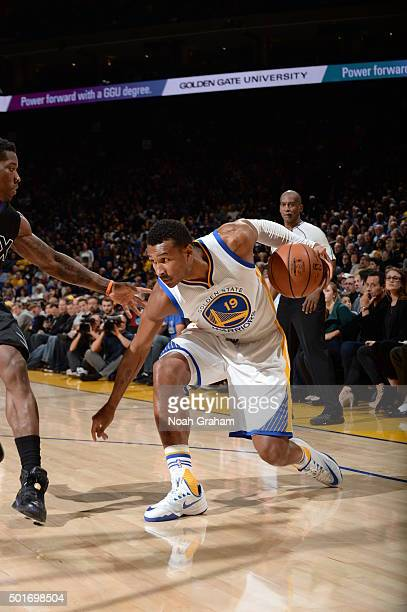 Leandro Barbosa of the Golden State Warriors handles the ball against the Phoenix Suns on December 16 2015 at Oracle Arena in Oakland California NOTE...