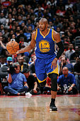 Leandro Barbosa of the Golden State Warriors handles the basketball during a game against the Golden State Warriors on October 7 2014 at the Staples...