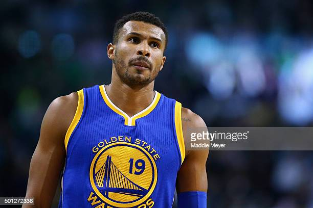 Leandro Barbosa of the Golden State Warriors looks on during the second quarter against the Boston Celtics at TD Garden on December 11 2015 in Boston...