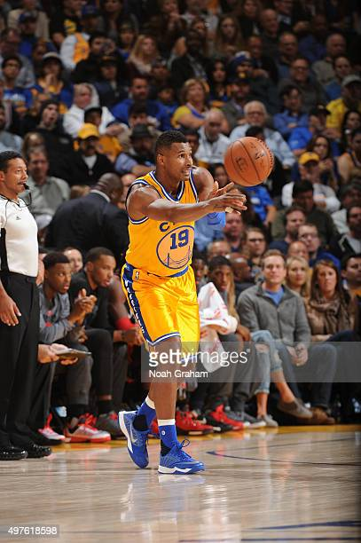 Leandro Barbosa of the Golden State Warriors passes against the Toronto Raptors on November 17 2015 at Oracle Arena in Oakland California NOTE TO...