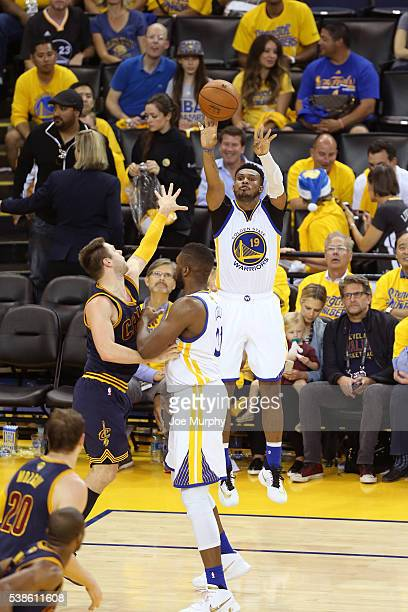 Leandro Barbosa of the Golden State Warriors shoots the ball during Game Two of the 2016 NBA Finals against the Cleveland Cavaliers on June 5 2016 at...
