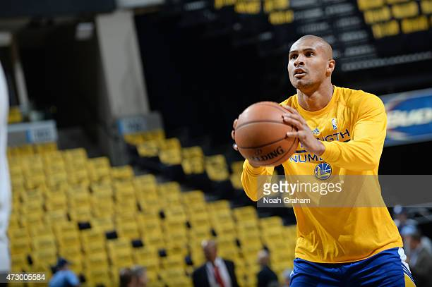 Leandro Barbosa of the Golden State Warriors warms up before facing off against the Memphis Grizzlies for Game Four of the Western Conference...