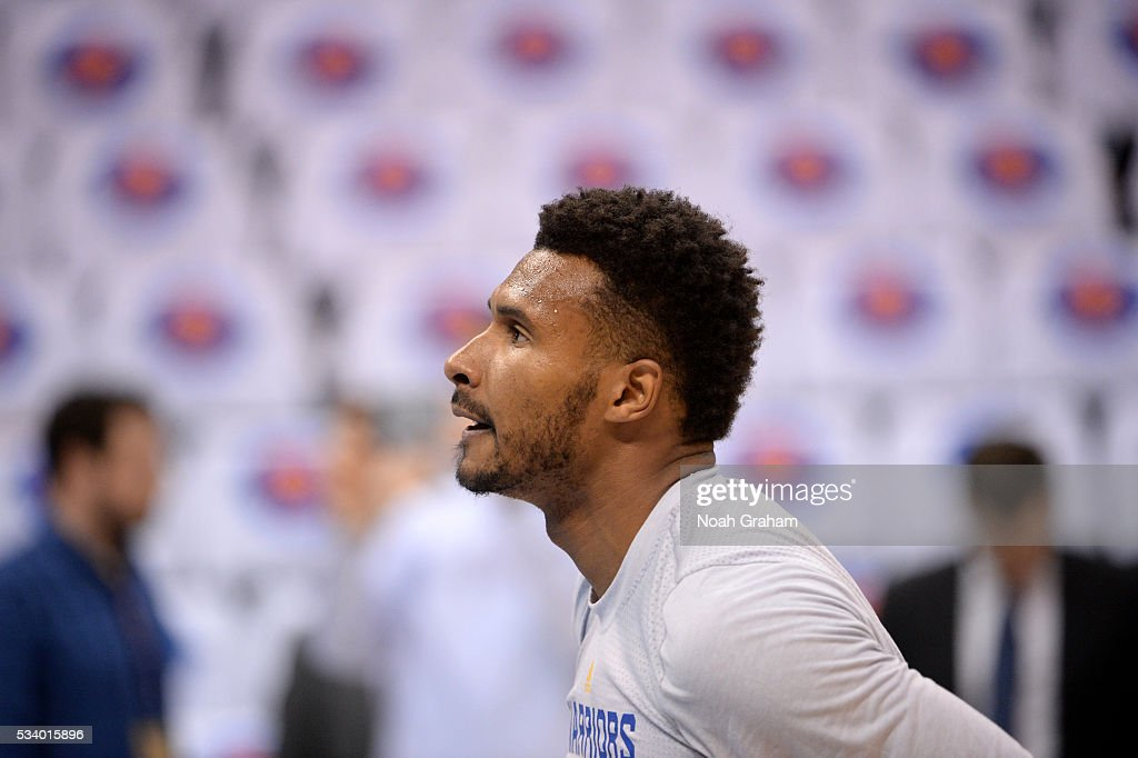 Leandro Barbosa #19 of the Golden State Warriors warms up prior to Game Four of the Western Conference Finals between the Golden State Warriors and Oklahoma City Thunder during the 2016 NBA Playoffs on May 24, 2016 at Chesapeake Energy Arena in Oklahoma City, Oklahoma.