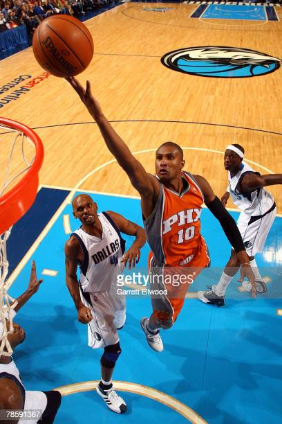 Leandro Barbosa of the Phoenix Suns goes to the basket against Jerry Stackhouse of the Dallas Mavericks on December 19 2007 at American Airlines...