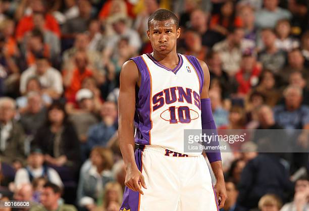 Leandro Barbosa of the Phoenix Suns looks on during the game against the Utah Jazz at US Airways Center onMarch 7 2008 in Phoenix Arizona NOTE TO...