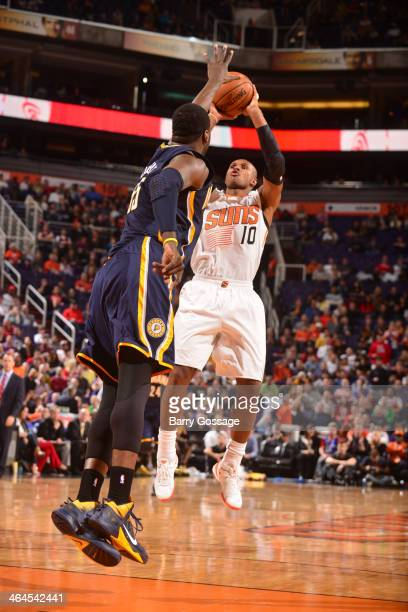 Leandro Barbosa of the Phoenix Suns shoots against the Indiana Pacers on January 22 2014 at US Airways Center in Phoenix Arizona NOTE TO USER User...