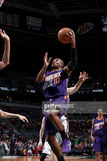 Leandro Barbosa of the Phoenix Suns shoots against the Milwaukee Bucks on January 29 2014 at the BMO Harris Bradley Center in Milwaukee Wisconsin...