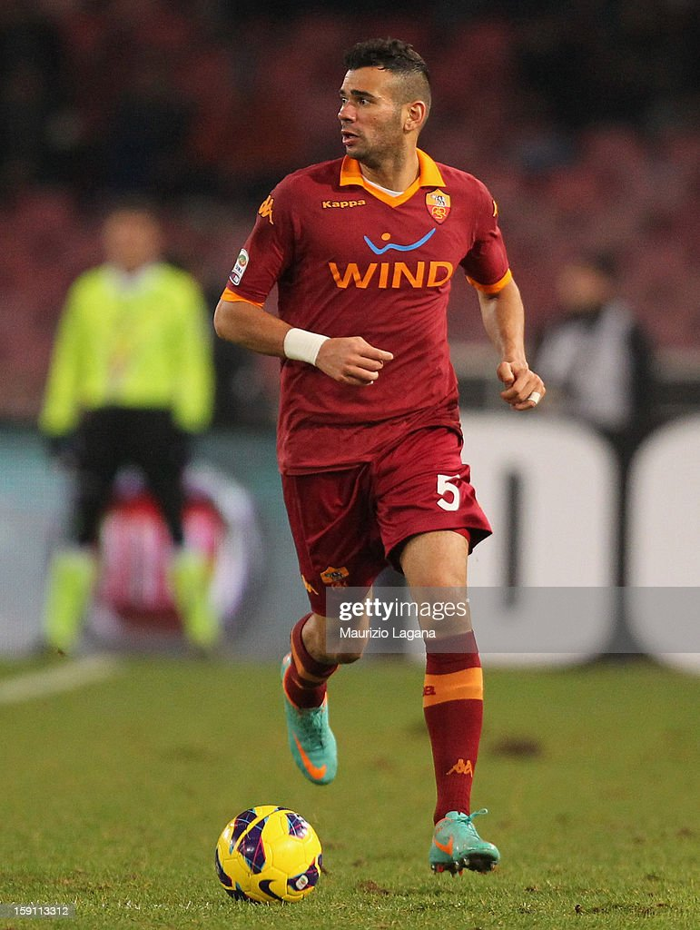 Leandro Castan of Roma during the Serie A match between SSC Napoli and AS Roma at Stadio San Paolo on January 6, 2013 in Naples, Italy.