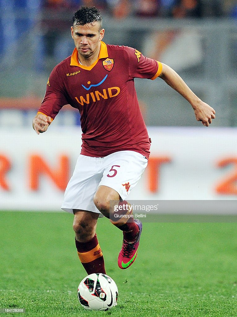 Leandro Castan of Roma in action during the Serie A match between AS Roma and Parma FC at Stadio Olimpico on March 17, 2013 in Rome, Italy.