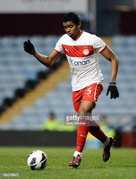 Leandro Climacci Pinto of Olympiacos during the NextGen Series Quarter Final match between Aston Villa U19 and Olympiacos U19 at Villa Park on March...