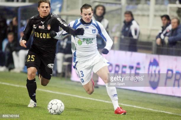 Leandro CUFRE / Kevin LEJEUNE Auxerre / Monaco 19eme journee de Ligue 1