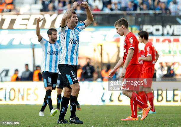 Leandro Grimi of Racing Club celebrates after winning a match between Racing Club and Independiente as part of 13th round of Torneo Primera Division...
