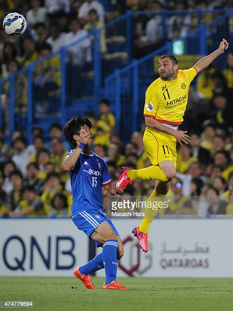 Leandro Montera Da Silva of Kashiwa Reysol in action during the AFC Champions League Round of 16 match between Kashiwa Reysol and Suwon Samsung FC at...