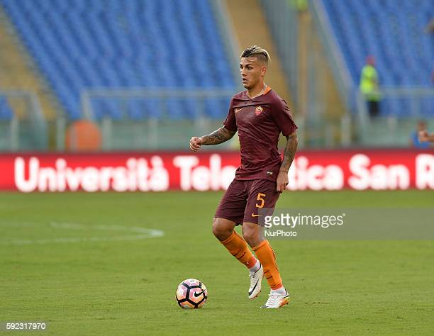 Leandro Paredes during the Italian Serie A football match between AS Roma and Udinese Calcio at the Olympic Stadium in Rome on August 20 2016
