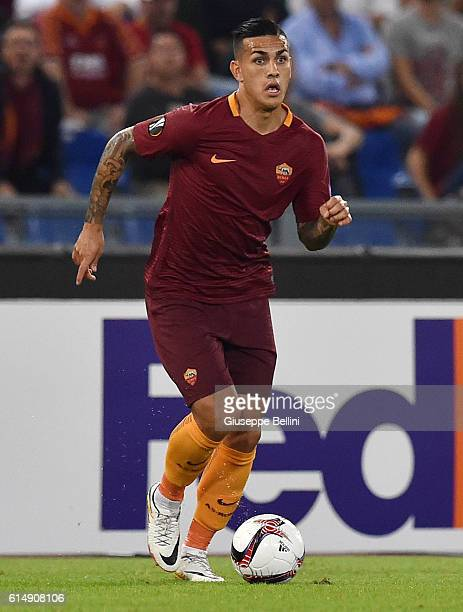 Leandro Paredes of AS Roma in action during the UEFA Europa League match between AS Roma and FC Astra Giurgiu at Olimpico Stadium on September 29...