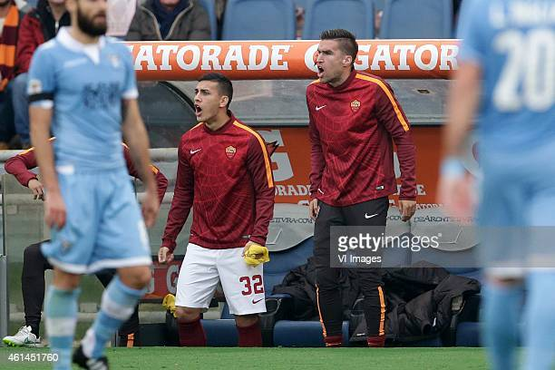 Leandro Paredes of AS Roma Kevin Strootman of AS Roma during the Serie A match between AS Roma and Lazio Roma on January 112014 at the Stadio...