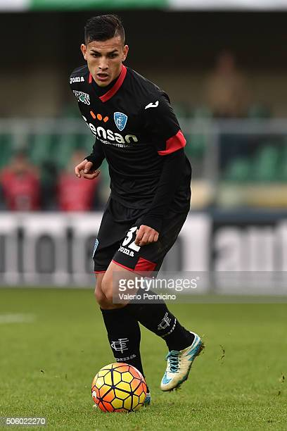 Leandro Paredes of Empoli FC in action during the Serie A match between AC Chievo Verona and Empoli FC at Stadio Marc'Antonio Bentegodi on January 17...