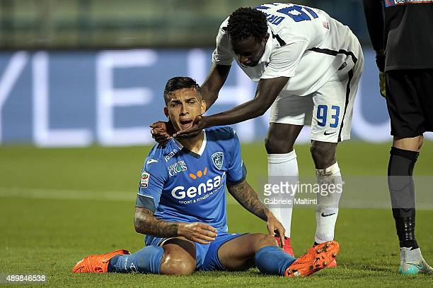Leandro Paredes of Empoli FC shows his dejection during the Serie A match between Empoli FC and Atalanta BC at Stadio Carlo Castellani on September...