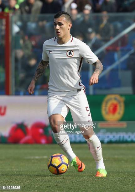 Leandro Paredes of Roma during the Serie A match between FC Crotone and AS Roma at Stadio Comunale Ezio Scida on February 12 2017 in Crotone Italy