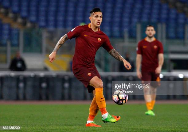 Leandro Paredes of Roma in action during the Europa League round of 16 second leg football match between Roma and Lyon at the Olympic stadium Roma...