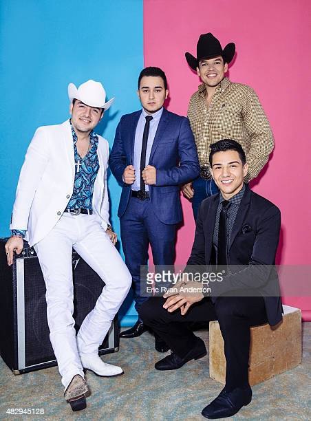 Leandro Rios Kevin Ortiz Luis Coronel and Jorge Valenzuela pose for a portraits at the 2015 Billboard Latin Music Conference for Billboard Magazine...