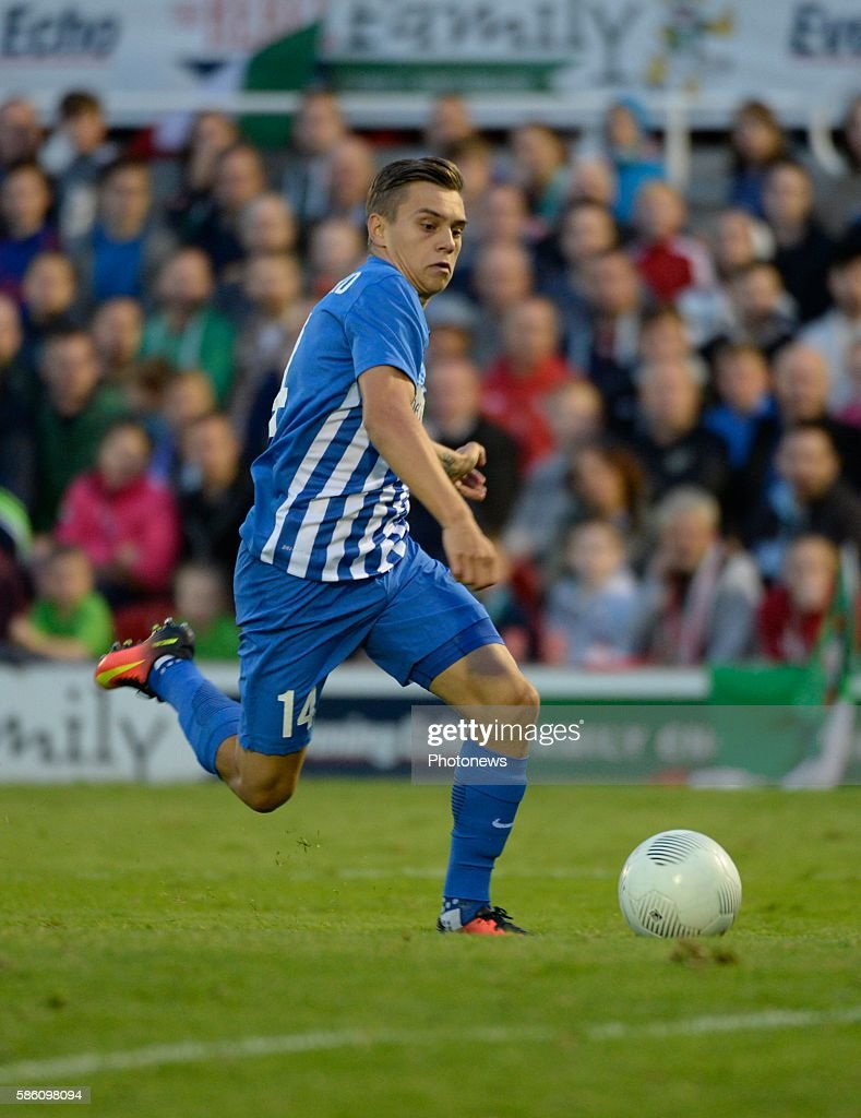 Leandro Trossard forward of Krc Genk pictured during UEFA Europa League third qualifying round 2nd Leg match between Cork City FC and KRC Genk on...